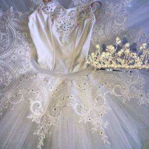 White with tiara